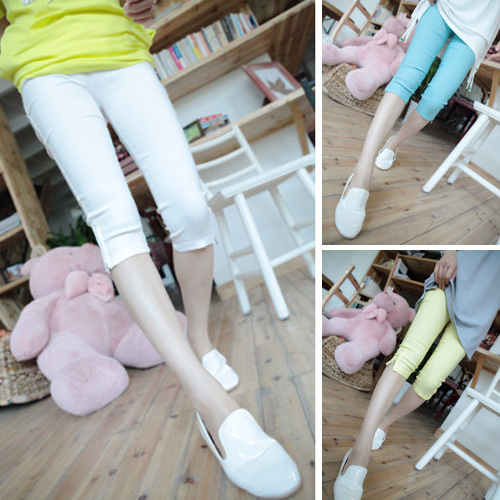 Tight zipper legging candy color pencil pants safety pants female
