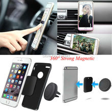 360 Degree Universal Car Holder Magnetic Air Vent Mount Dock mobile phone holder For  iPhone 6s Samsung HTC celular carro(China (Mainland))