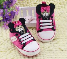 Cartoon Cute Shoes for Newborn Baby Girl Boy Spring Autumn Sneakers First Walkers Baby Toddler Shoes Blue and Red(China (Mainland))