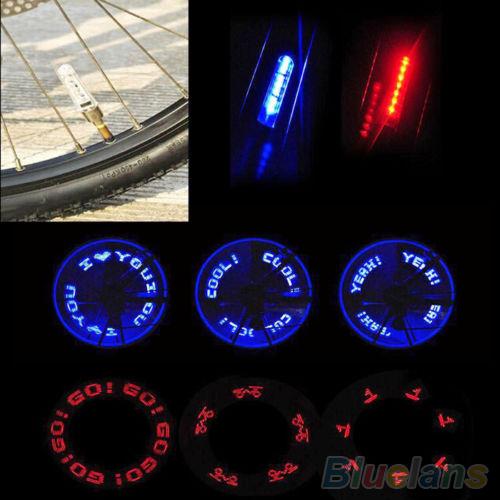 Flash 7LED Lights Neon Bicycle Bike Motorcycle Lamp Tire Spoke Wheel Valve 1Q9J 4BC2(China (Mainland))