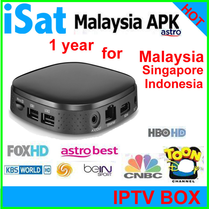 Original android tv box 4k ASTRO Malaysia IPTV xbmc tv Box of 1 Year Service 190+ Channels for Malaysia Singapore IPTV Indonesia(China (Mainland))