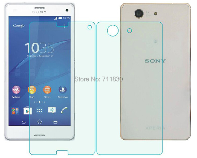 HD Front and Back Tempered Glass Screen Protector For Sony Xperia Z3 Compact Mini D5803 D5833 M55W Rear Protective Glass Film(China (Mainland))