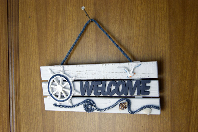 2015Hot Sale vintage hanging Welcome Board party nautical anchor decoration Pine Wooden Craft Mediterranean Style Home Decor(China (Mainland))