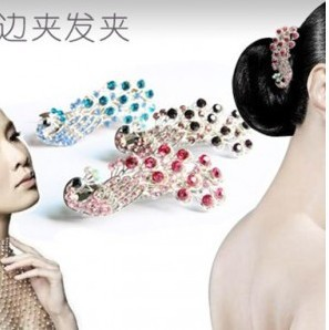 TS168 Hot!!! New Fashion Peacock Hairpins Head Jewelry Wholesales Hairclips