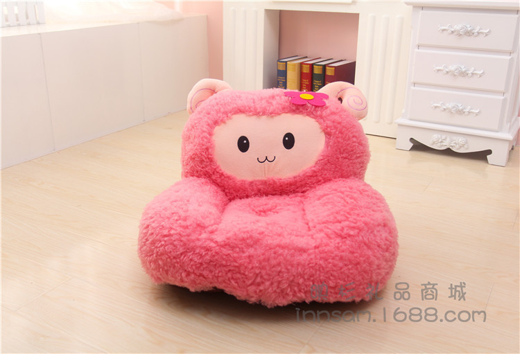 plush sheep children's sofa tatami toy lovely soft pink sheep floor seat cushion doll gift about 52x50cm(China (Mainland))