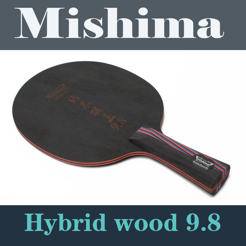 Mishima Butterfly table tennis ball nano carbon 9.8 table tennis racket table tennis blade ping pong FL long handle shake hand(China (Mainland))