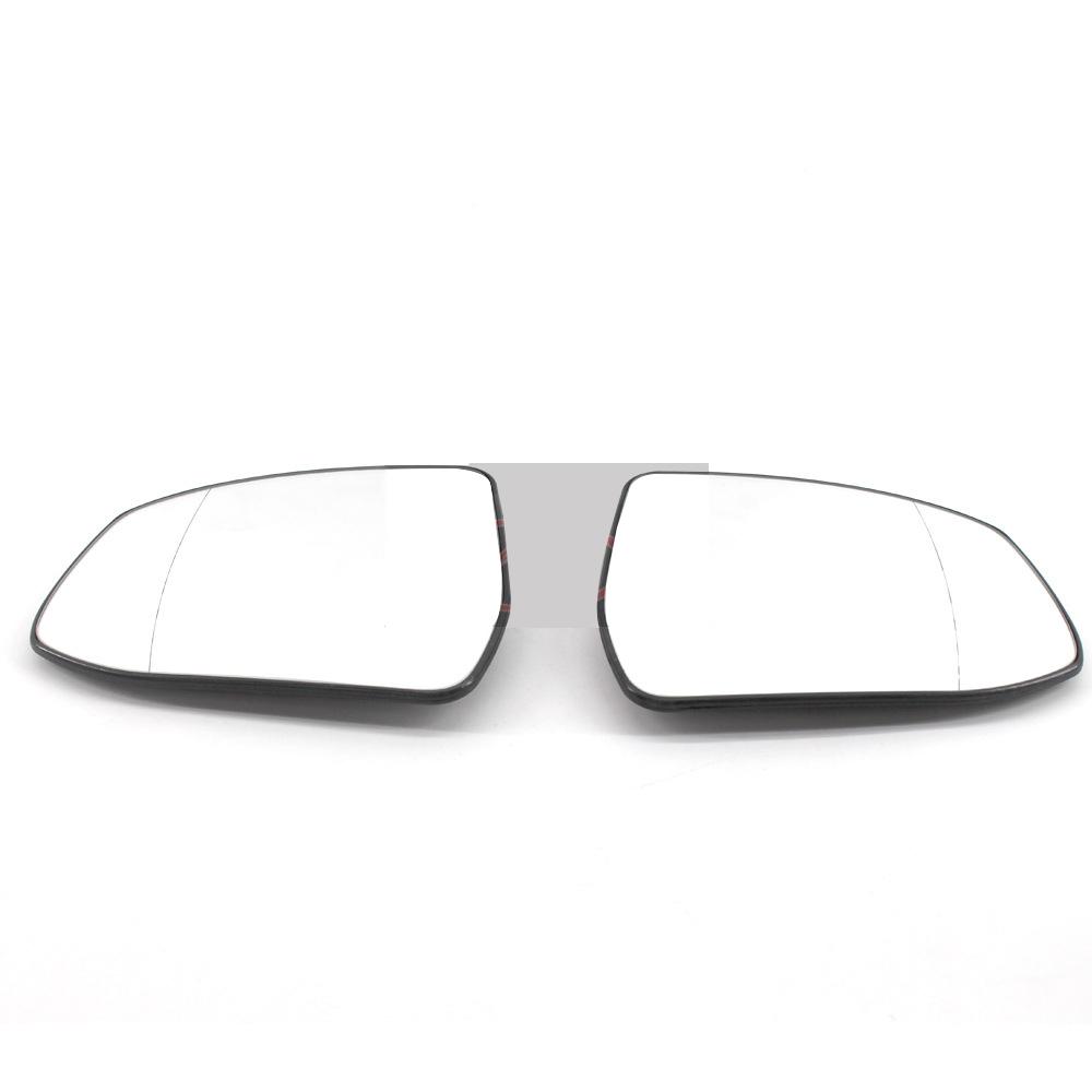 2X Door Side View Mirror Cover Caps For 2011-2017 Ford Fiesta Sedan Hatchback