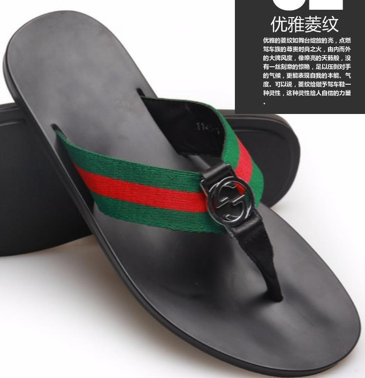 Гаджет  NEW Summer Street Fashion luxury brand Genuine leather Color matching antiskid Toes flat Sandals male Flip Flops beach slippers None Обувь