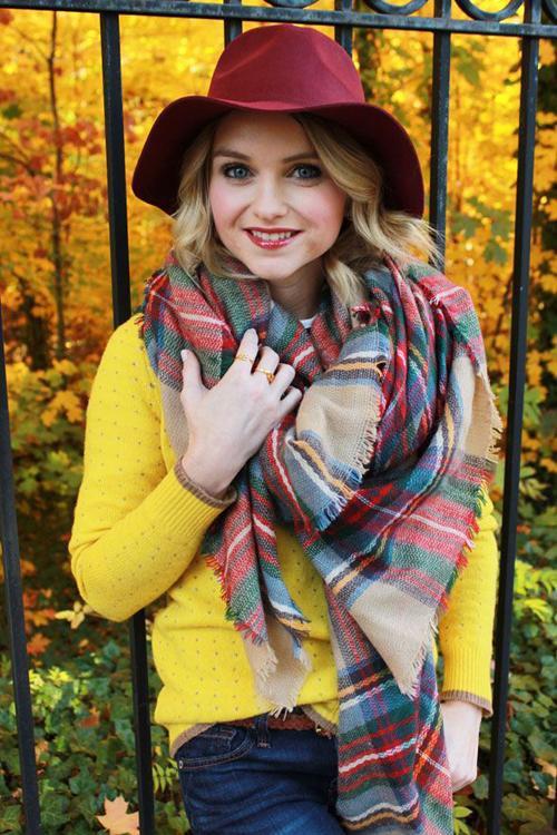 Za зима 2015 шотландка шарф Desigual плед шарф новый дизайнер мужской акриловые основная шали женские платки