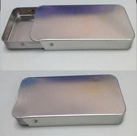 10pcs 68*34*11mm Metal Slide Top Tin Container Sliding Lid Geocache Storage Survival Kit lip balm salve perfume  #834