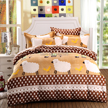 A  brand  new   Flannel  Bedding  Sets  Queen  King  Size 4Pcs of Duvet Cover Bed Sheet Pillowcase(China (Mainland))