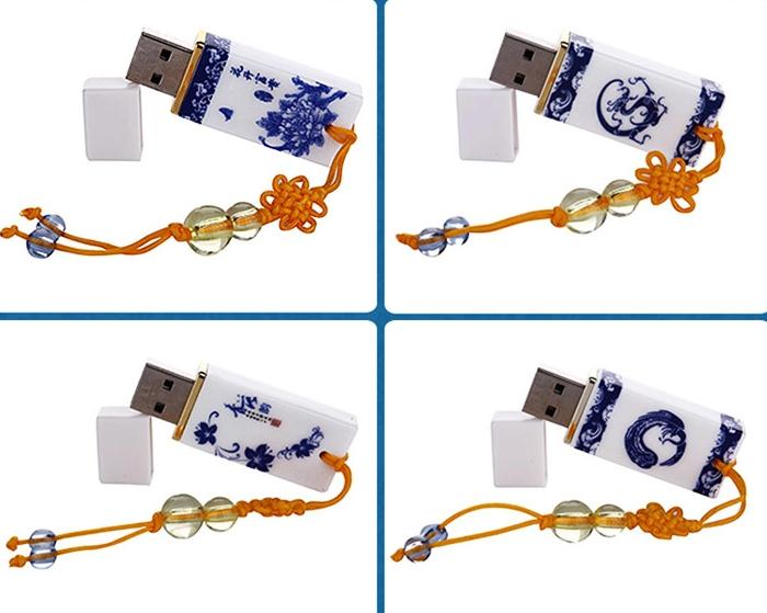 100% real capacity blue and white porcelain usb flash Drive Card Memory flower classic 16GB 8GB /pen drive USBS411(China (Mainland))