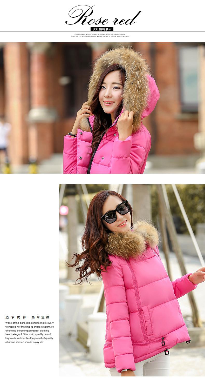 Winter jacket women fur hooded wadded jacket female medium-long casual cotton-padded jacket thickening winter coat wt0094