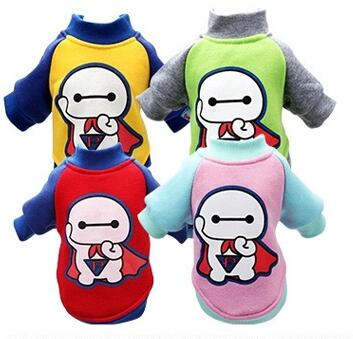 Spring Dog Clothes Teddy Thickened Small Dog Bichon Pomeranian Puppy Warm Sweater Coat Pet Clothes(China (Mainland))