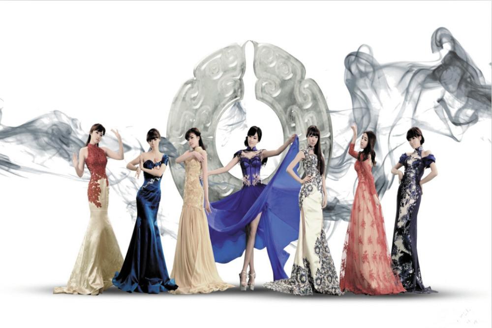 "Sexy Girl Oriental beauty figure art Chinese Dress Custom ART PRINT Silk cloth 24 ""X36 inches"" 155(China (Mainland))"