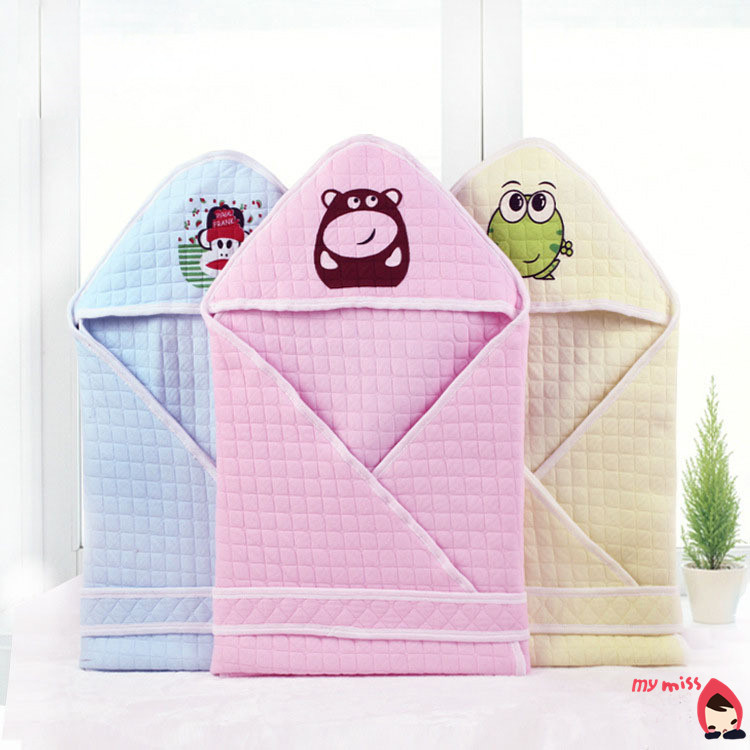 2015 Newest Cute Baby Receiving Blankets Soft Cotton Newborn Swaddle Wrap 80*80 Infant Sleeping Bag Holder For Boys&Girls B19(China (Mainland))