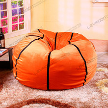 FREE SHIPPING bean bag ottoman without filling football bean bag cover 92cm diameter diy bean bag cover use super soft velvet(China (Mainland))