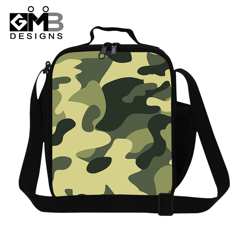 Fashion Cool Thermal Lunch Bag Children Camouflage Food Storage Kids Camo Lunch Bags For Boys Girls Lunchbox For Kids Adult(China (Mainland))
