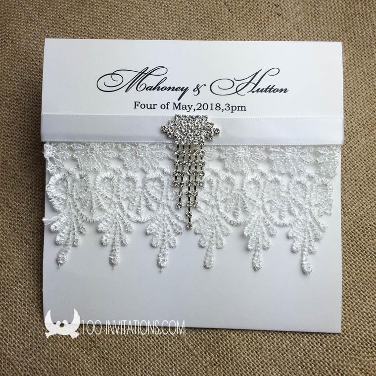 creative elegant pocket fold wedding invitations a set
