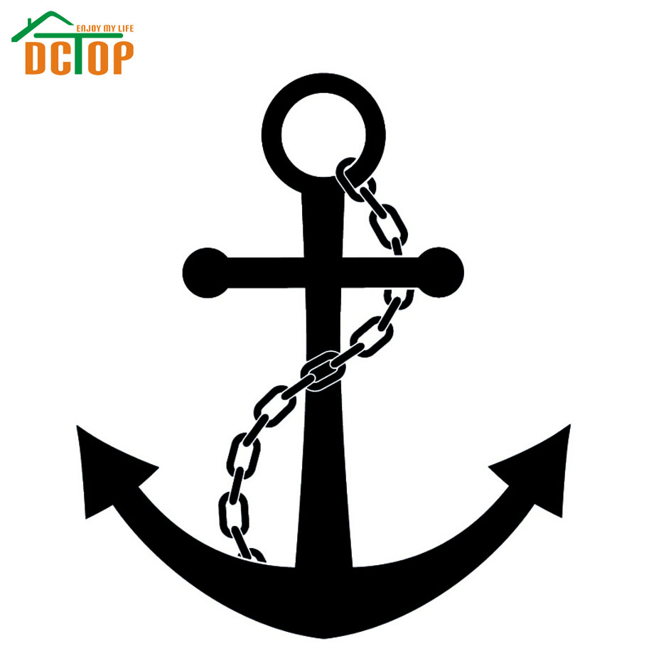 Hot Sale High Quality Nautical Chain And Anchors Wall Sticker Bedroom Decorative For Kids Vinyl Art Decals(China (Mainland))