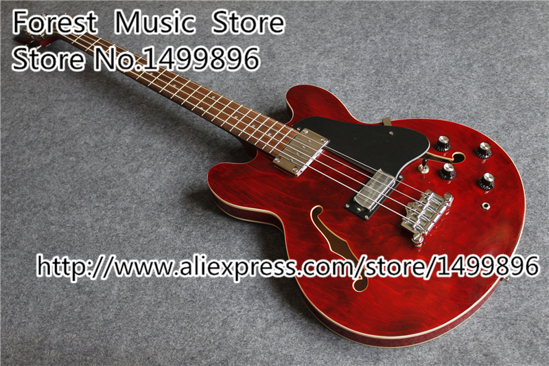 Top Selling ES Electric Jazz Bass Guitar & 4 String China Chrome Hardware Bass For Sale(China (Mainland))