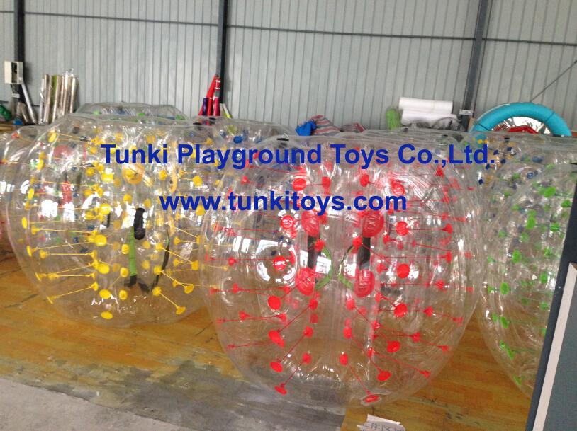 crazy popular bumper ball/human soccer bubble ball/bubble football(China (Mainland))