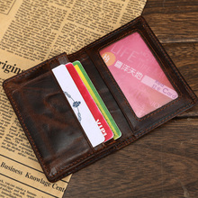 Buy Italian Genuine Leather Credit Card Holder Oil Waxed Premium Cowhide Credit Card Wallet Vintage Business Card Bag ID Case Holder for $8.39 in AliExpress store