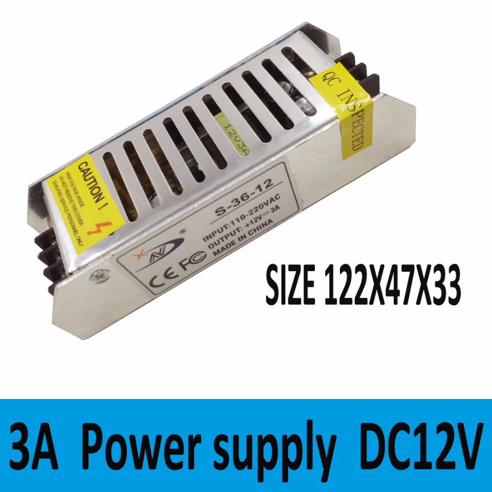 36W 12V 3A DC 12V Power Supply Charger Transformer Adapter for 5050 3528 LED RGB Strip light(China (Mainland))