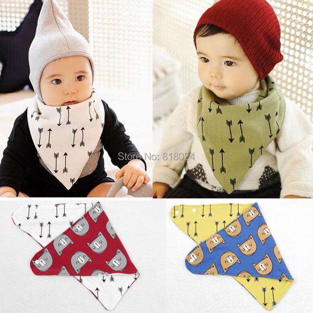 Хлопок младенцы нагрудник, Младенческая слюна полотенца, Комикс принт младенцы нагрудник рыгающие ткань носки бандана нагрудник двухсторонний большой размер