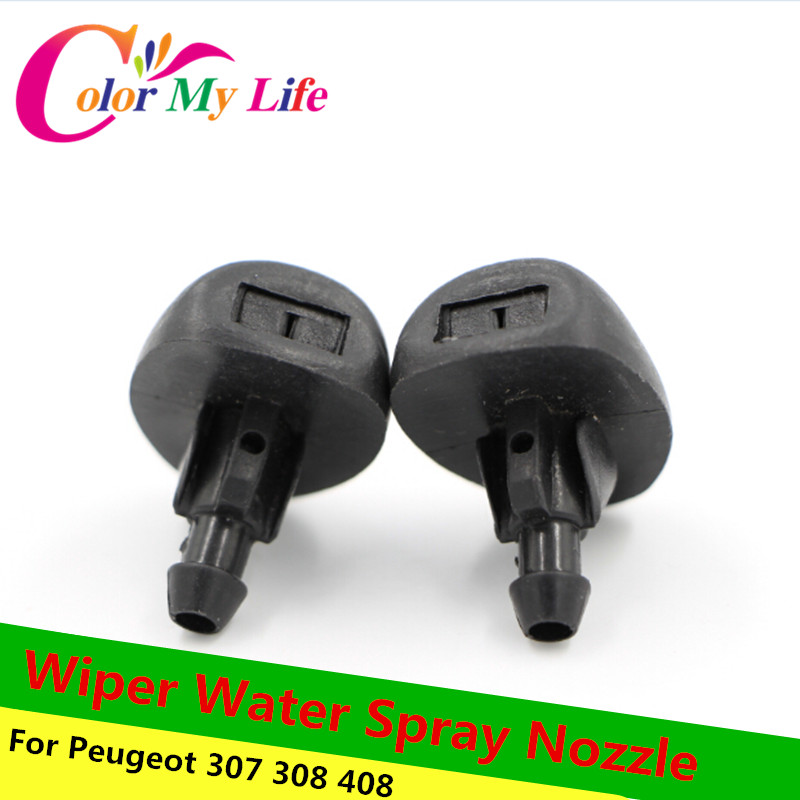 New Hot Car Spray Parts Fit For Peugeot 307 308 408 Wiper Water Spray Nozzle Car Glass Nozzle Scrubber Nozzle Factory Price 1pcs(China (Mainland))