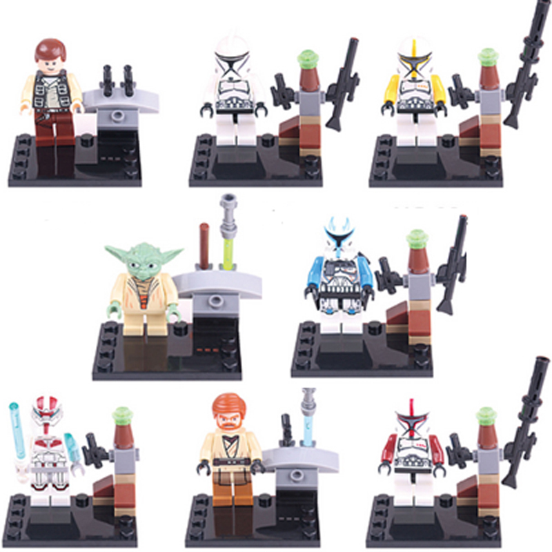 Гаджет  Star Wars Minifigures Building Blocks Sets Model Clone Trooper Yoda Figure Classic Bricks Toys For Children Compatible With Lego None Игрушки и Хобби