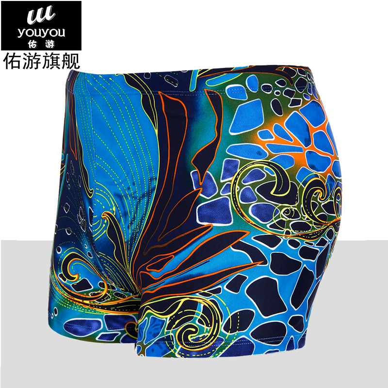 2015 sexy male swimming trunks Men swimwear Quality Fancy loose hot spring male swimming trunks(China (Mainland))