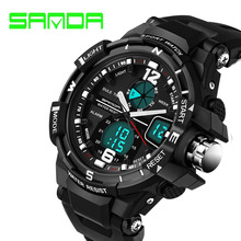 Buy SANDA Fashion Watch Men G Style Waterproof LED Sports Military Watches Shock Men's Analog Quartz Digital Watch relogio masculino for $10.42 in AliExpress store