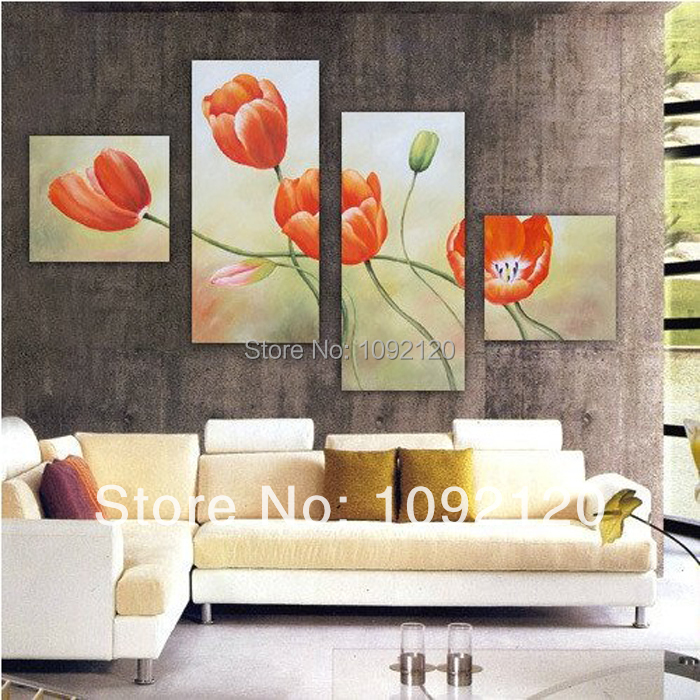 Modern Abstract Oil Painting On Canvas Beauty Flower Picture For Living Room Decor Large Wall Art High Quality Picture Numbers