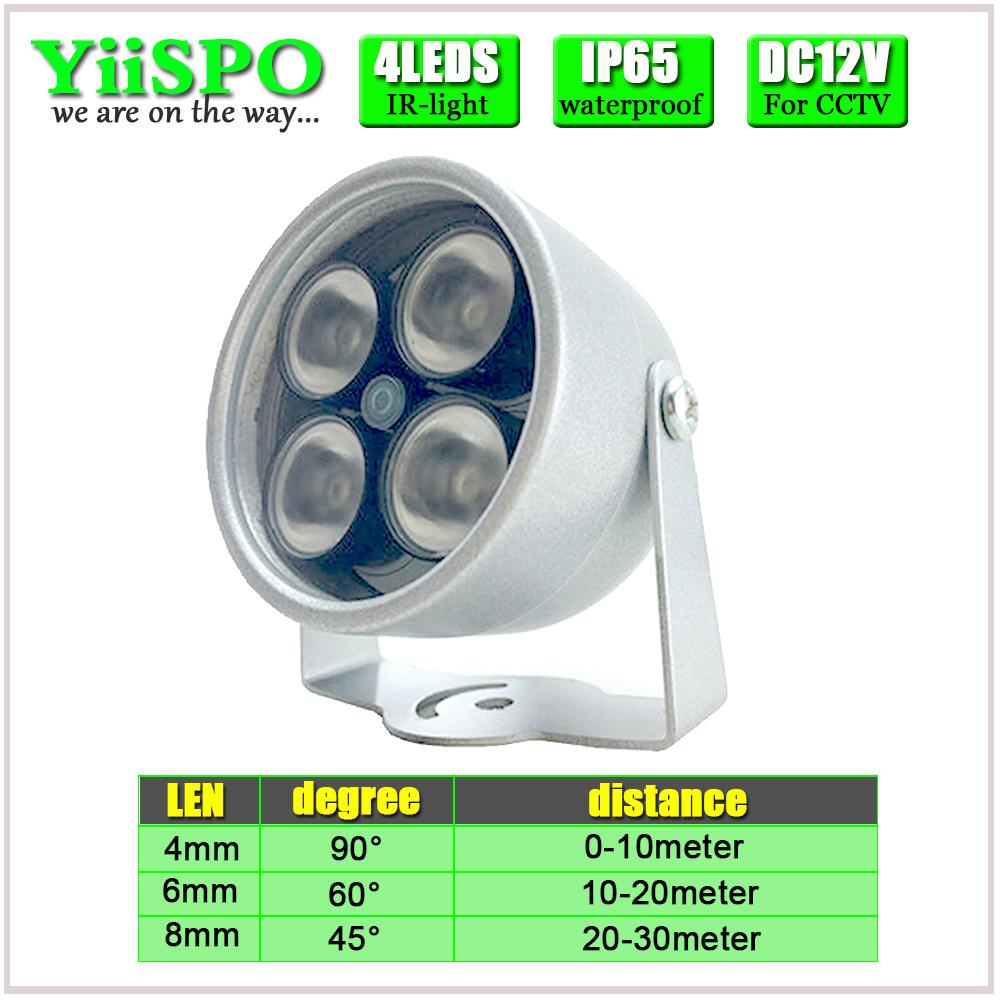 Illuminator Light 4 Big LED CCTV IR Infrared Night Vision For Surveillance Camera Security System Wholesale Free Shipping(China (Mainland))