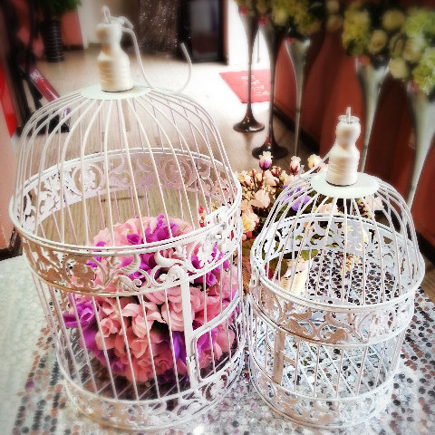 Get $36.00 off set of 2 cage, wedding decoration cells, the wedding decorative bird cages, The cage bird casamento(China (Mainland))