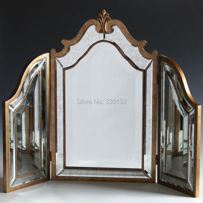 F 61art deco large decorative wall mirror for home decor wall sticker mirror decor 3d interior - Decoratie dressing ...