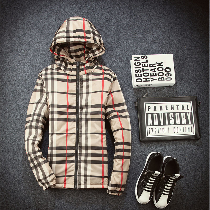 Men outdoor jackets 2016 Fall Breathable fabrics hoodies plaid zipper students Coats Travel jacket Casual Sport coats young men(China (Mainland))