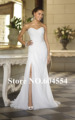 2014 NEW In Stock US Size 4-6-8-10-12-14-16-18-20-22 White/Ivory Satin Tulle Beading Crystal A-Line Wedding Dress Bridal Gown
