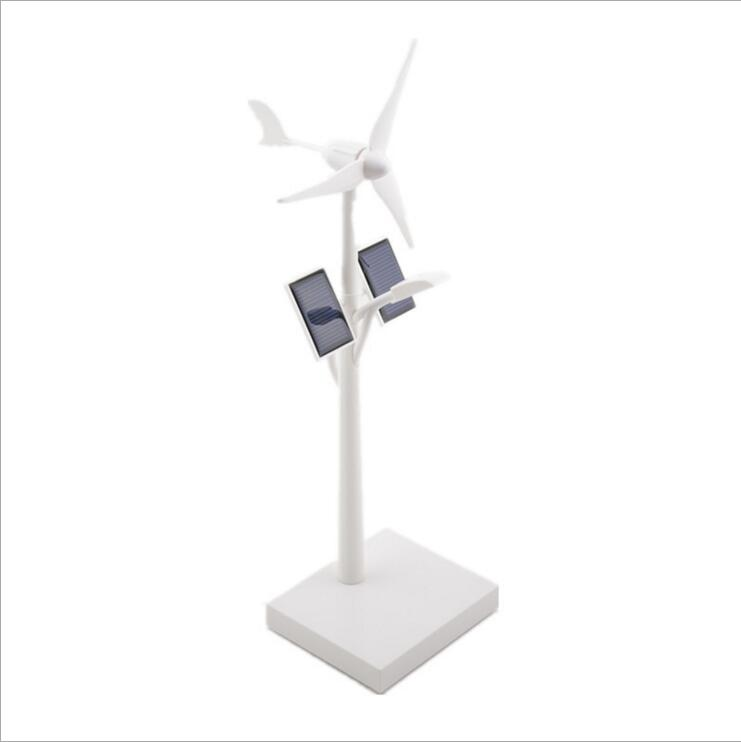 Mini Wind Turbines Solar Panel System Light Science Teaching Wind Turbines Solar Power Model Kids Assembly kit(China (Mainland))