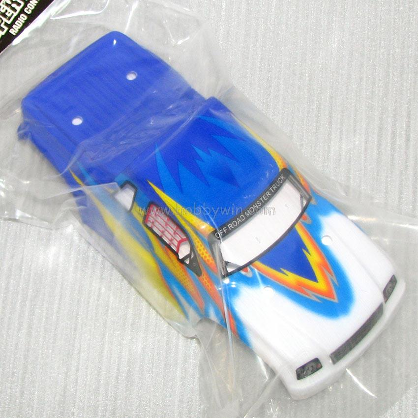 HBX part 16310 Truck Body (Blue) + Decals For HAIBOXING 16883 1/16th RC Monster Truck wholesale price Free shipping(China (Mainland))
