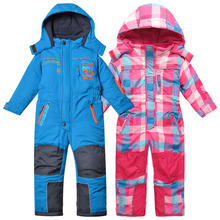 Free Shipping-kids/children autumn/winter jumpsuit, ski overalls, blue and pink plaid color, size 98 to 116, topolino(MOQ: 1pc)(China (Mainland))