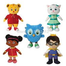 Original Daniel Tiger's Neighborhood Plush Toys Daniel Tiger Katerina Kittycat O Owl Miss Elaina Prince Wednesday(China (Mainland))