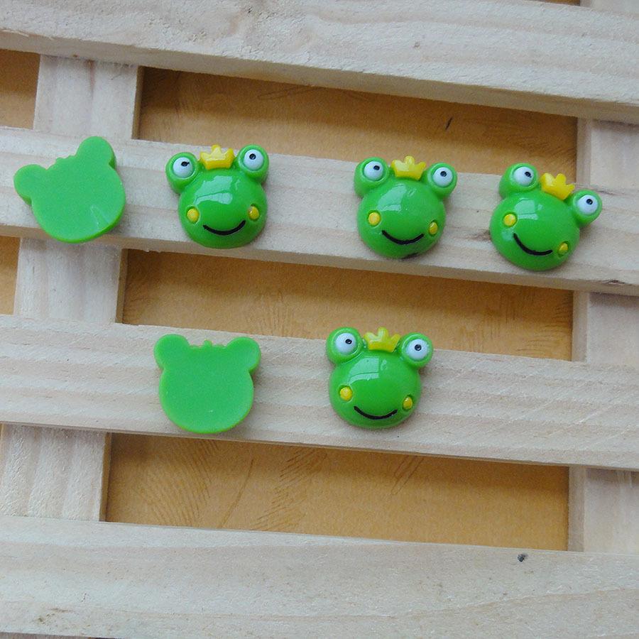 20pcs/lot mini Frog 15mm flat back resins kawaii cabochon crafts DIY christmas ornament(China (Mainland))