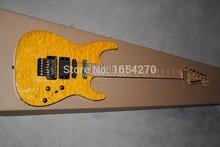 new SL2H USA Soloist Maple neck orange colour finish inlays signature Custom Body 6 strings Jackson electric guitar 151112(China (Mainland))