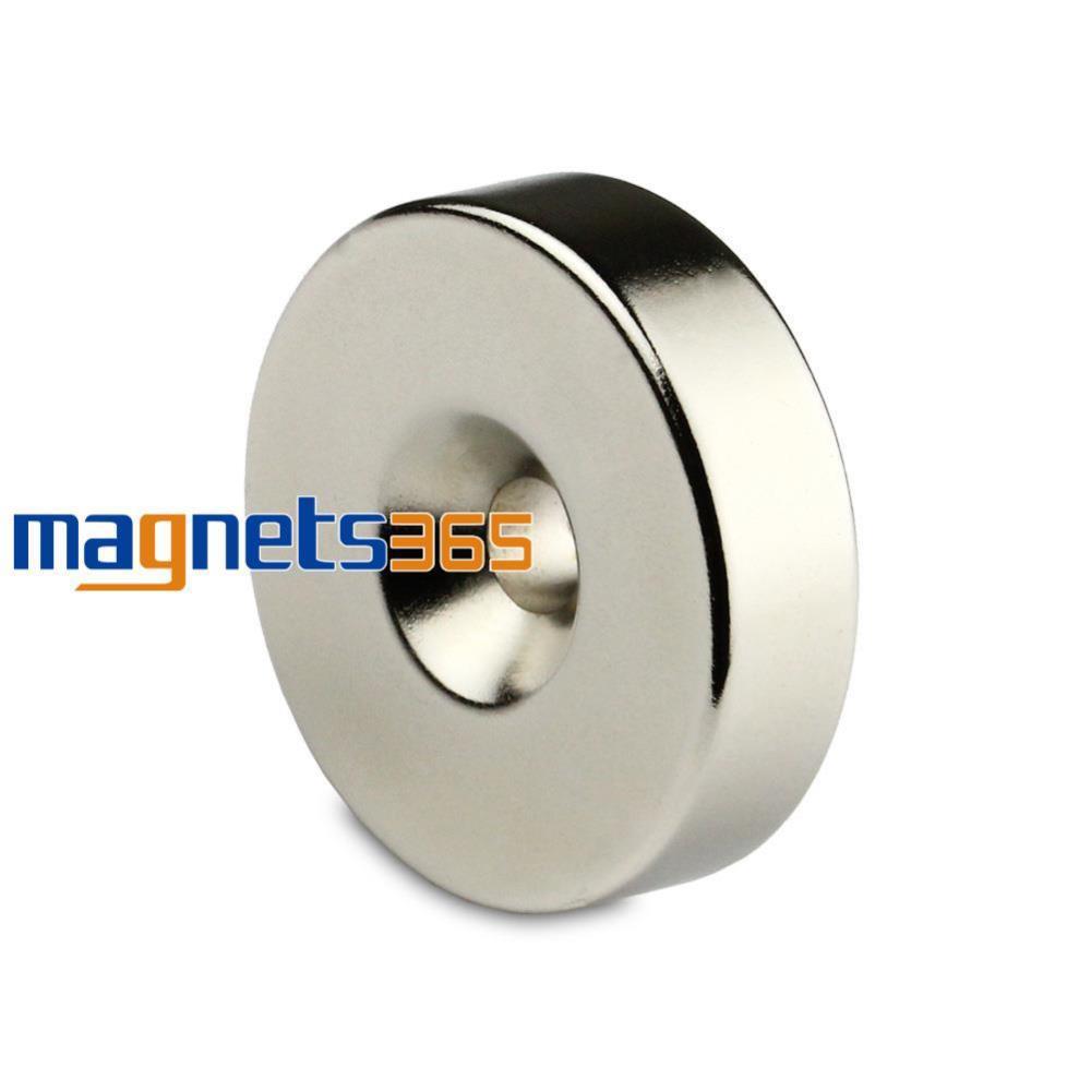 Гаджет  1 Big Round Ring Magnet 35mm x 10mm Hole 6mm Disc Rare Earth Neodymium N50 Grade None Строительство и Недвижимость
