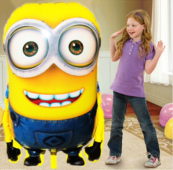 Large Size Minions Foil Balloon Despicable Me 2 Balloons Birthday Globos Party Inflatable Air Balloon Minion Festa Ballons Balao(China (Mainland))