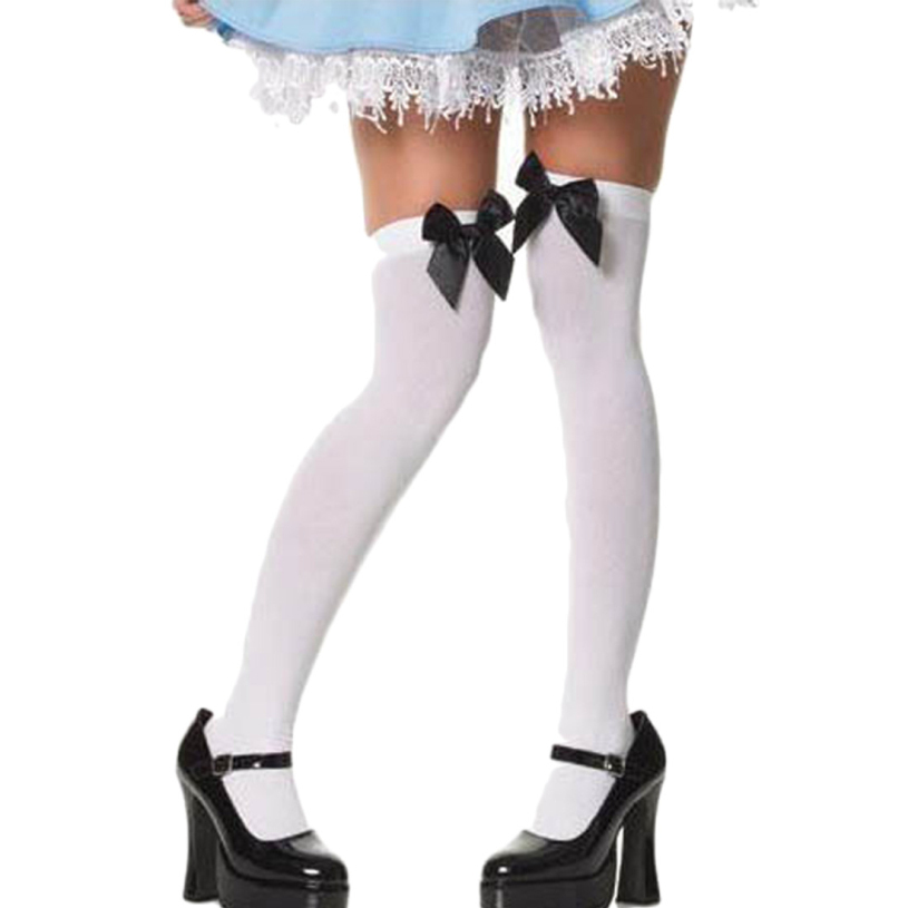 2015 hot sale New bow lace stockings fashion stretch lace bow Thigh High Stockings sexy stockings