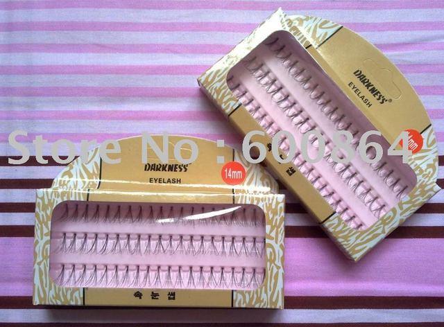 high quality black Individual Soft False Eyelashes Fake eyelashes 14mm freeshipping