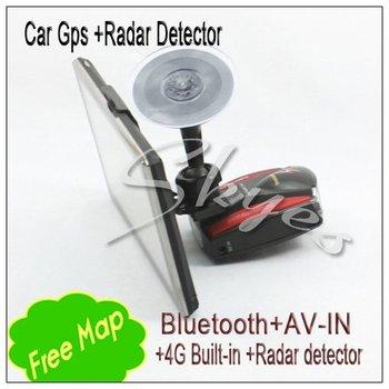 Big discount 7 inch GPS bluetooth AV-IN 4G TF car Navigation Auto Radar Detector Vehicle Speed Control Detector Hot Sell
